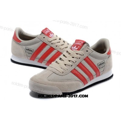 adidas dragon gris rouge