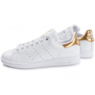 adidas stan smith blanc or