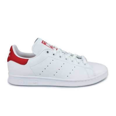 adidas stan smith blanche et rouge femme
