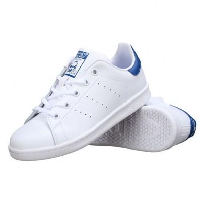 adidas stan smith femme blanc et bleu