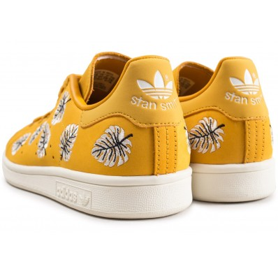 adidas stan smith the farm company jaune femme