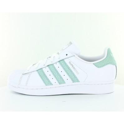 adidas superstar blanche et verte femme