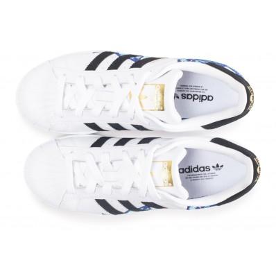 adidas superstar canvas bleue et blanche femme the farm company
