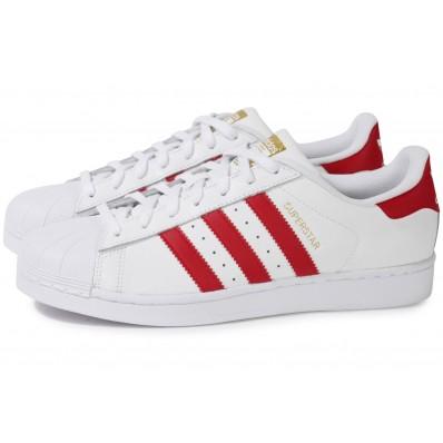 adidas superstar rouge et blanche femme