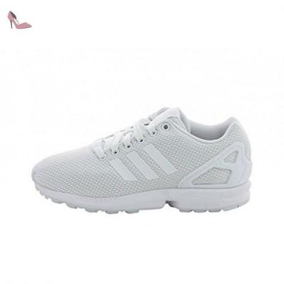 chaussure adidas zx flux blanche femme