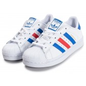 adidas bleu blanc rouge superstar