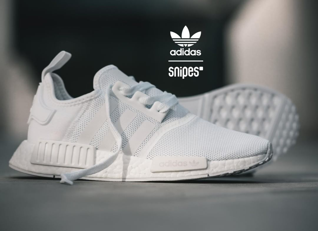 adidas nmd r1 femme blanche et rose